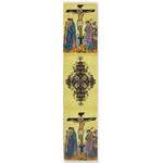 "TBM51 Crucifixion  Book Marker Txtile Art 9 1/8""x2"""
