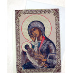 TGs89 Madonna & Child Tapestry Icon Greeting Card w/Envelope - Icon Can Be Framed