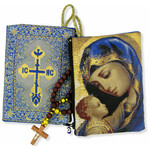 """TIP4  Madonna & Child Rosary Icon Pouch 5 3/8""""x4"""" NEW!!"""