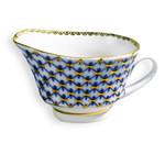 L6937 Lomonosov porcelain Cobalt Net Small Fruit Bowl