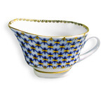 L6937 Lomonosov porcelain Cobalt Net Small Fruit Bowl