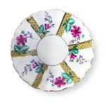 """L104 Lomonosov porcelain 'Green House' Dessert Plate 6"""""""