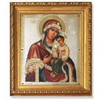 """A98 Virgin of Peschanskaya Framed icon With Crystals & Glass 10 1/4""""x8 3/4"""""""