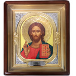 IR-751 Christ the Teacher Wood Frame Glass 11""