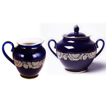 L 360 Lomonosov porcelain 'Golden Frieze' Creamer