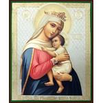 "SF-773 Virgin Refuge of Hopeless Gold Silver Foil Icon 6 1/4""x5"""