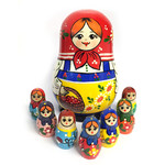 "K615 Rt Matreshka Doll 5 Nested High Quality 5""x3 1/2"" NEW!!"