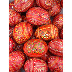 7012-5  Assorted Ukranian Pysanki Eggs Set of 5