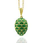"""8723 Faberge Style Egg Pendant 1 1/4""""x3/4"""""""