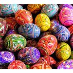 7012-5  Assorted Ukranian Pysanki Eggs Set of 5