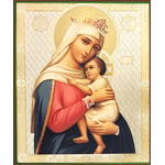 "SF-921 Madonna & Child Gold & Silver Foil Icon NEW!  8 1/4""x6 3/4"""