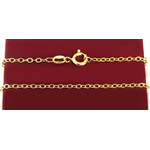 Chain-1 Sterling Silver Gold Plated Hallmarked Chain 18""