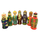 ORN-14 Nativity of Christ Set of 7 Christmas Ornaments