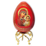 IED-9BW Virgin Mary of Eternal Bloom With Wooden Stand 6 1/4""