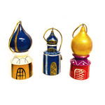 "100-011 Christmas Ornament ""Assorted Domes"" 3""x1 3/8"""