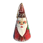 "704-48 Hand Painted Santa Ornament 3""x2"""