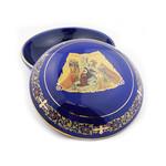 """ANA105BC Ceramic Keepsake Jewelery Rosary Case 5"""""""