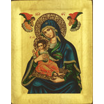 "TS102B Virgin Perpetual Help Serigraph Icon Made in Greece 5""x4"""