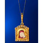 8759 Madonna & Child Icon Pendant Virgin Of Kazan NEW!!
