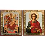 """IR-32 Diptych Virgin MAry and Christ the Teacher 9 1/2"""" x 5 1/2"""""""