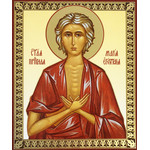 "IR-762 St Matrona Russian Icon 5 1/4""x4 1/2"""