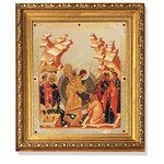 "A93 Resurrection of Christ New Icon Gold Framed With Glass & Crystals NEW!! 10 1/4""x9"""
