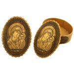 """BIR-44 Birch Icon Box Virgin of Vladimir 4""""x3"""