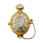 EC-16 LOCKET Panagia Christ/Apostles Opens to Christ & Virgin