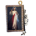 "TIP6 Blessed Pope John Paul II & Divine Mercy Two Sided Rosary Pouch 5 3/8""x4"" NEW!!"