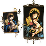 "TL-2 Madonna & Child Large Tapestry Banner VERY BEAUTIFUL NEW 17""X8"""