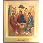 "RCH18 Holy Trinity Old Testament Trinity Icon Serigraph Icon 10""x8 1/2"""