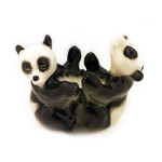 L8477 Lomonosov Porcelain Figurine Two Bears