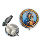 PB2-2 Madonna & Child  Icon Pill Box NEW!! 2""