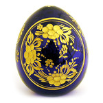 3-28B FABERGE STYLE FLORAL CRYSTAL EGG
