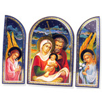 "IR-508L Triptych HOLY FAMILY Christmas Icon 7 1/2""x10"""