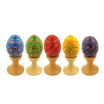 7012-5    Set of 5 Easter Assorted Colorful Ukranian Pysanki Eggs!