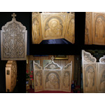 "ONE OF A KIND HAND CARVED AMAZING WOODSHRINE!!  W -22""  H - 12 1/2"""
