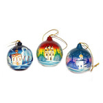 100-027 Open up Sphere Shape Ornament w/Surprize Inside