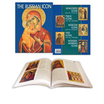 B4206 Hard Cover Russian Icon Book New!!