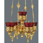 3410048   5 Lamps Heavy Gold Plated