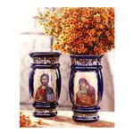 ANA1-1B Icon Flower Vase Virgin Mary & Christ the Teacher