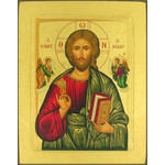 "TS302B Christ Pantacrator Serigraph Icon From Greece 5""x4"""