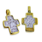 "EC-27 Cross Double Side Pascha (Easter) Driving Out of Demons 1 1/8""x3/4"""