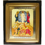 "IR-700 FEASTDAY ICON (13)  Set in Wood Kiot - 13 icons of the Major Feasts of the Eastern Church.  15""x13 1/4"""