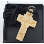 """SC037 Hand Carved Wooden Cross From Greece 1 1/16""""x1"""""""