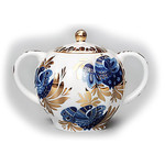 L9 'Golden Garden' Sugar Bowl Lomonosov Porcelain