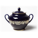 L359 Lomonosov porcelain 'Golden Frieze' Sugar Bowl