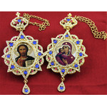 M-3-3 M-3-1 Matching Set of Framed Icon Pendants with Crystals and Chain NEW!!