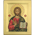 "TS305B Christ Pantacrator Serigraph Icon Made In Greece 5""x4"""