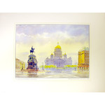 4658043 St Petersburg The Monument to Emperor Nicolas I & St Isaac's Cathedral Reproduction